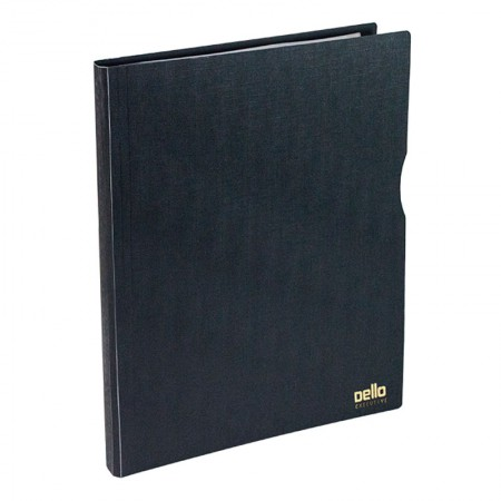 Pasta catálogo A4 com 30 plásticos preta - Executive - 6056.P - Dello