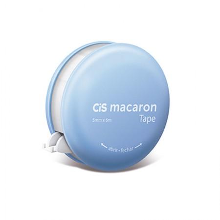 Corretivo em fita Macaron - 5mm x 6m - unidade - Azul - Cis