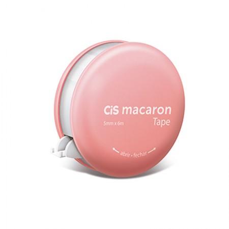 Corretivo em fita Macaron - 5mm x 6m - unidade - Rosa - Cis
