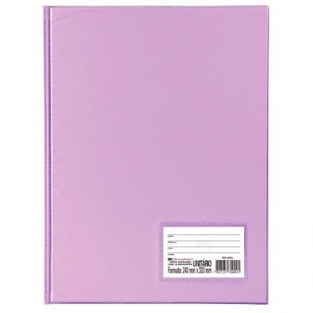Pasta catálogo - 1028LI - Lilás - com 10 envelopes plásticos - Dac