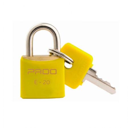 Cadeado 20mm - SM E-20 - Amarelo - Pado
