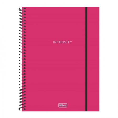 Caderno espiral capa dura universitário 1x1 - 80 folhas - Neon Rosa - Tilibra