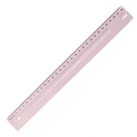 Régua plástica 30cm - Linho Serena - Rosapastel - 3112.WP - Dello