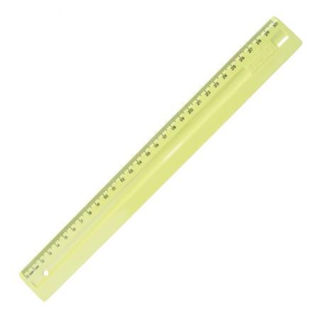 Régua plástica 30cm - Linho Serena - Amarelo pastel - 3112.AP - Dello