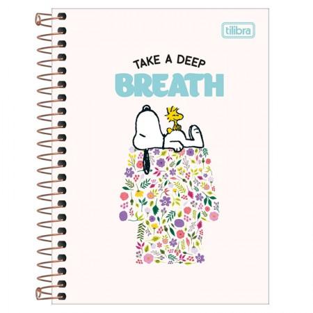 Caderneta espiral capa dura 1/8 - 80 folhas - Snoopy - Capa 2 - Tilibra