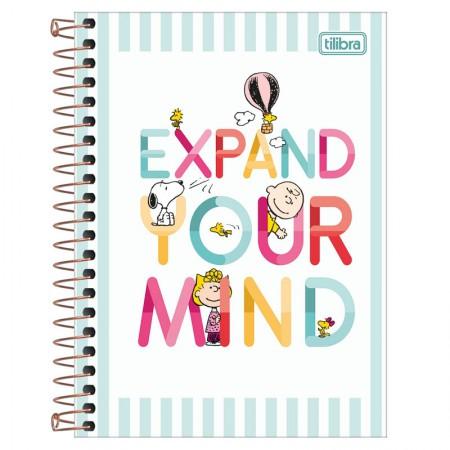 Caderneta espiral capa dura 1/8 - 80 folhas - Snoopy - Capa 3 - Tilibra