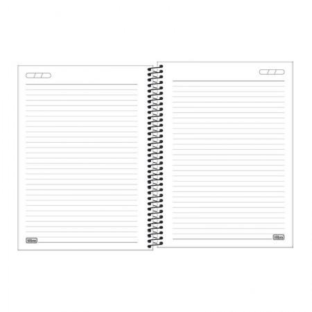 Caderno capa plástica universitário 10x1 Neon Branco 160 Fls - Tilibra