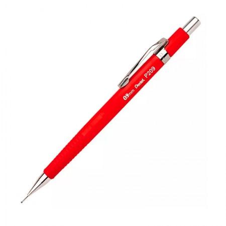 Lapiseira 0.9mm P209 - vermelha - Pentel