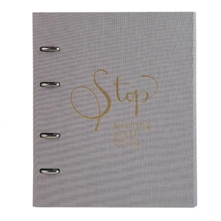 Caderno argolado Ultra Cotton - 190 folhas - Fichário Lilás - 9003-6 - Ótima