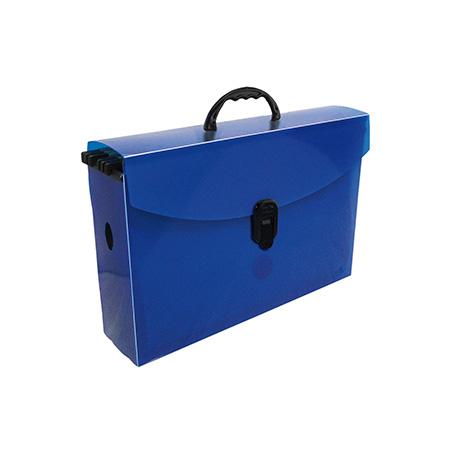 Maleta arquivo slim Dellosmile - azul - 2160.C - com 6 pastas suspensa -  Dello