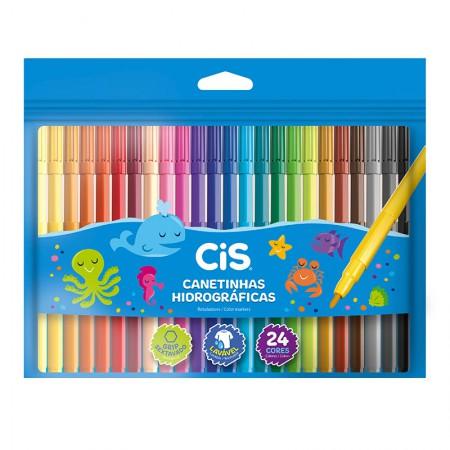 Caneta hidrográfica Color - 48.6104 - com 24 cores - Cis