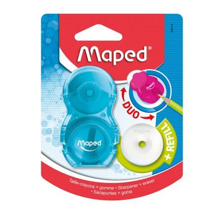 Apontador com coletor + borracha - Loopy - 049110 - Azul - Maped