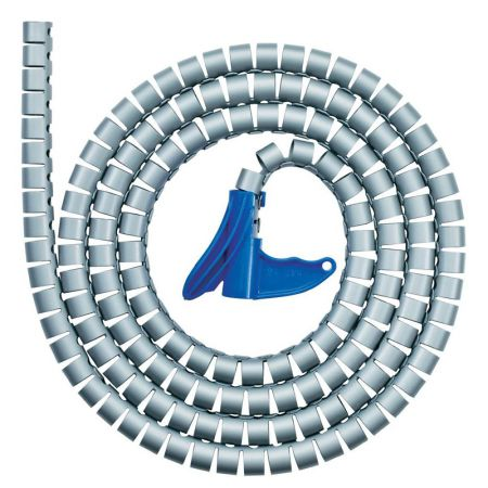 Organizador de fios espiral HWPP25 23mmx2m - branco - com 1 unidade - Hellermanntyton