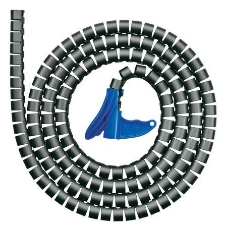 Organizador de fios espiral HWPP25 23mmx2m - preto - com 1 unidade - Hellermanntyton