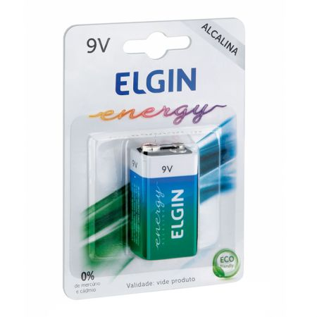 Bateria alcalina 9 volts LR61 - com 1 unidade - Elgin