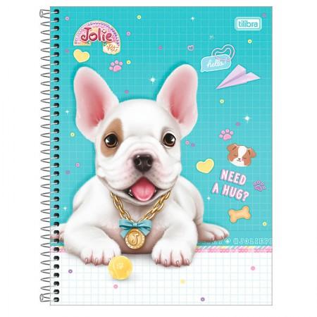 Caderno espiral capa dura universitário 1x1 - 80 folhas - Jolie Pet - Capa 1 - Tilibra