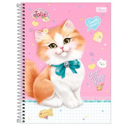 Caderno espiral capa dura universitário 1x1 - 80 folhas - Jolie Pet - Capa 2 - Tilibra