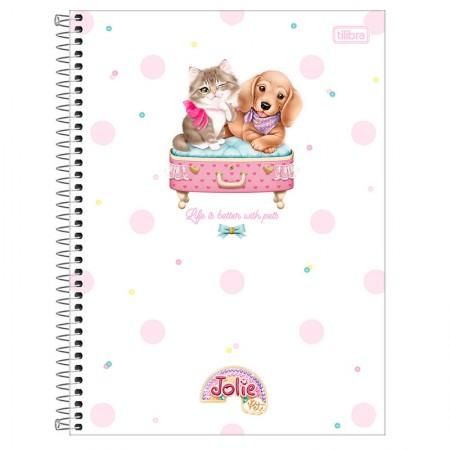 Caderno espiral capa dura universitário 1x1 - 80 folhas - Jolie Pet - Capa 3 - Tilibra