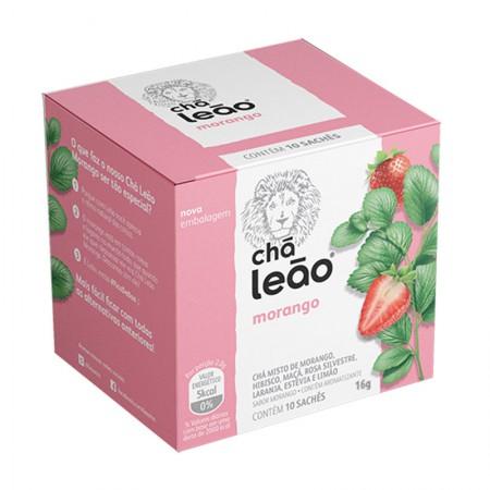 Chá de morango - com 10 unidades - Leão Fuze