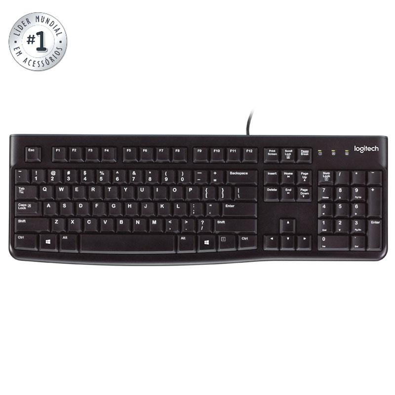 Teclado USB preto Keyboard K120 - Logitech