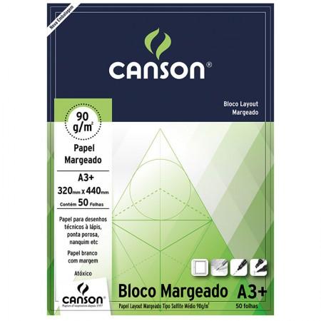Bloco layout margeado A3+ 90g - com 50 folhas - Canson