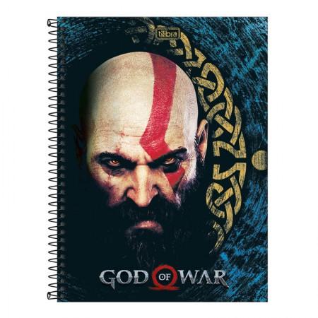 Caderno espiral capa dura universitário 1x1 - 80 folhas - God of War - Capa 1 - Tilibra
