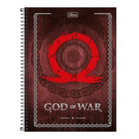 Caderno espiral capa dura universitário 1x1 - 80 folhas - God of War - Capa 2 - Tilibra