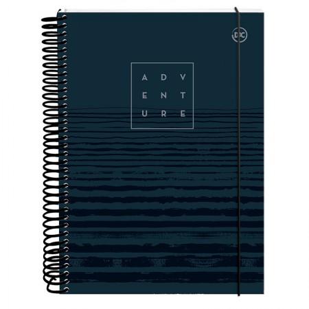 Caderno espiral capa dura universitário 10x1 - 160 folhas - 2967AZ - Masculino Azul - Dac