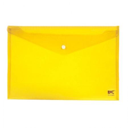 Envelope plástico com botão A4 - 653PP-AM - Amarelo - Dac
