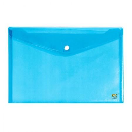 Envelope plástico com botão A4 - 653PP-AZ - Azul - Dac