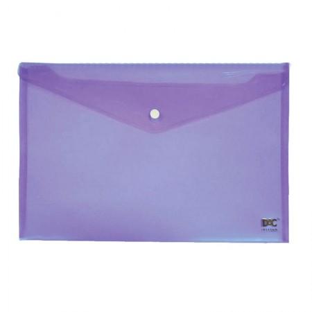 Envelope plástico com botão A4 - 653PP-LI - Lilas - Dac