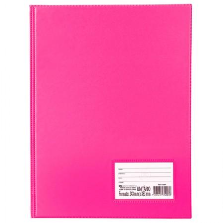 Pasta catálogo com visor 1028PI  Pink 10 envelopes plásticos Dac