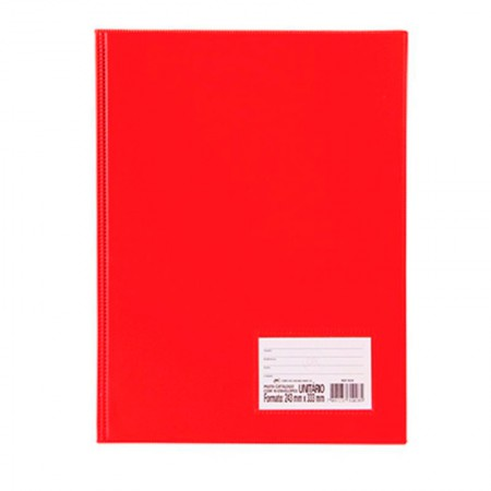 Pasta catálogo com visor - 1028VM - Vermelha - com 10 envelopes plásticos - Dac