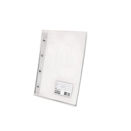 Pasta catálogo com visor - 5028TR - Cristal Transparente - com 10 envelopes plásticos - Dac