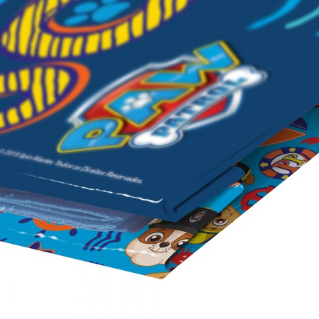 Pasta catálogo s/visor Patrulha Canina Azul 10 envel plást Dac