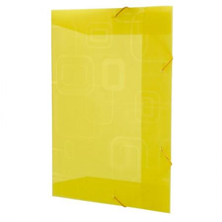 Pasta com aba elástico opaca - amarela - 241.A - Dello