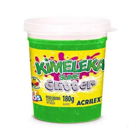 Kimeleka Art Kids com glitter 180g - Verde 206 - Acrilex