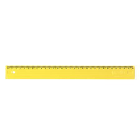 Régua plástica 30cm - amarela - 3112.A - Dello
