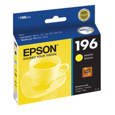 Cartucho Epson (196) T196420 - amarelo 290 páginas