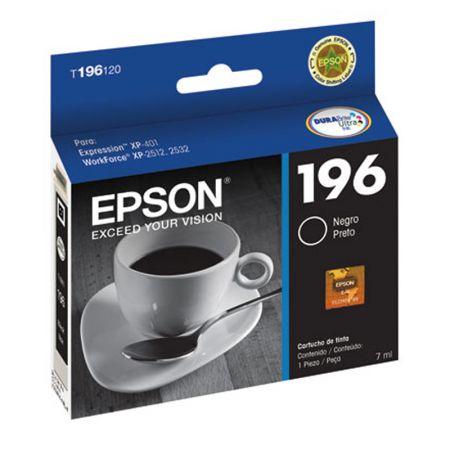 Cartucho Epson (196) T196120 - preto 175 páginas