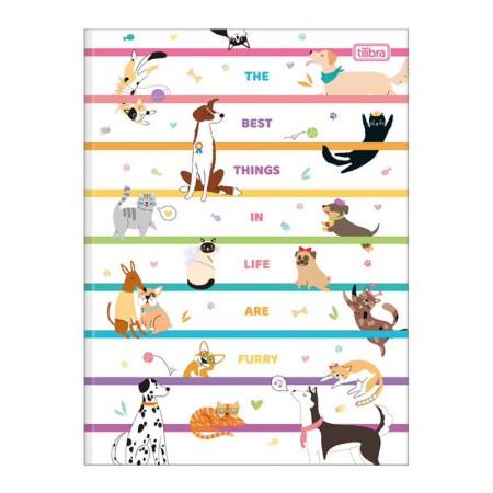 Caderno brochurão capa dura universitário 1x1 - 80 folhas - Hug Me - Capa 2 - Tilibra