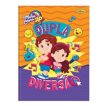 Caderno brochurão capa dura universitário 1x1 - 80 folhas - Maria Clara e JP - Capa 3 - Tilibra