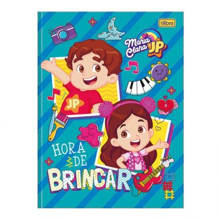 Caderno brochurão capa dura universitário 1x1 - 80 folhas - Maria Clara e JP - Capa 4 - Tilibra