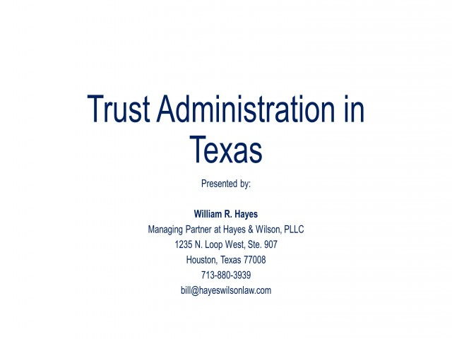 Rules of Trust Administration in Texas