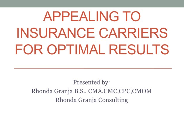 Appealing to Insurance Carriers for Optimal Payment Results