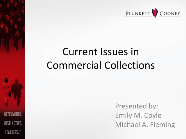 Current Issues in Commercial Collections