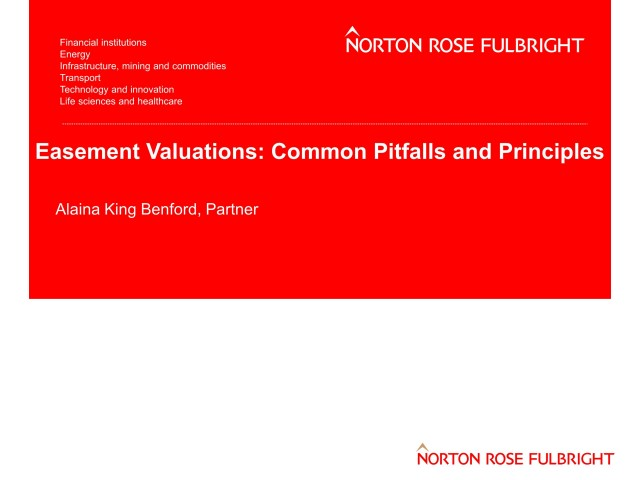 Easement Valuations: Common Pitfalls and Principles