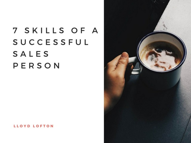 7 Skills of a Successful Sales Person