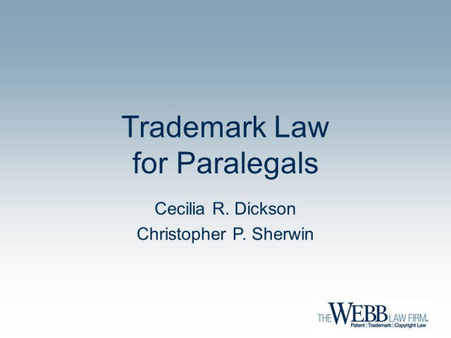 Trademark Law for Paralegals