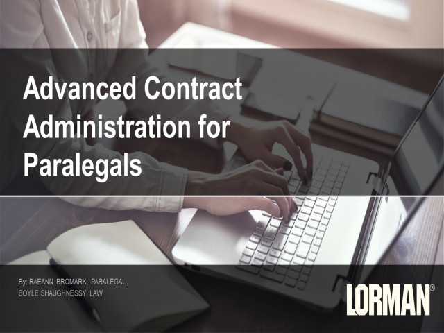 Advanced Contract Administration for Paralegals